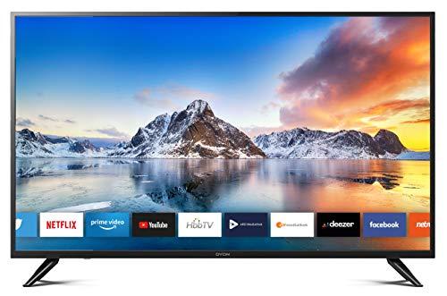 DYON Smart 49 XT 123,2 cm (49 Zoll) Fernseher (4K Ultra-HD Smart TV, HD Triple Tuner (DVB-C/-S2/-T2), Prime Video, Netflix & HbbTV) [Modelljahr 2021]