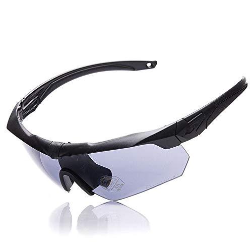 Zgsjbmh Taktische Brille ESS Schutzbrille Radfahren Sonnenbrille Outdoor Shooting Verdickung Spiegel polarisierte Sportsonnenbrille