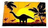 Fahne/Flagge Dinosaurier Silhouette 90 x 150 cm
