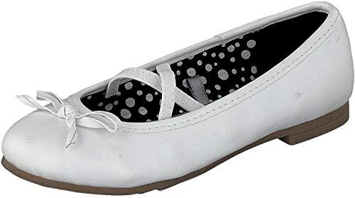 Indigo 422 283 Mädchen Ballerinas geschlossen Black mit Schleife (38, White)