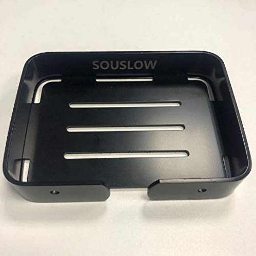 SOUSLOW Vacuum Suction Cup Soap Dish - Strong Stainless Steel Sponge Holder for Bathroom