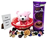 Teddy basket red Share Your Image Along With Your Order Id   +91 95130 85765 / gifting@iqoniqo.in Birthday   Friendship   Anniversary   Wedding  Thank You   Fathers Day