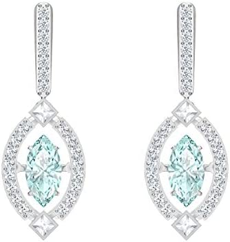 Swarovski Sparkling Dance Women s Dangling Pierced Earrings with Green and White Crystals with product image