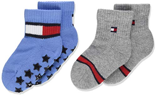 Tommy Hilfiger Baby-Jungen TH 2P Flag Socken, Blau (Blue Combo 025), (Herstellergröße: 23-26) (2er Pack)