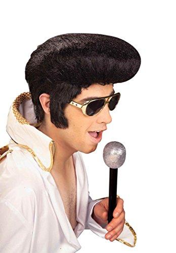 Forum Novelties Men's Rock N' Roll Elvis Presley Wig, Black, One Size