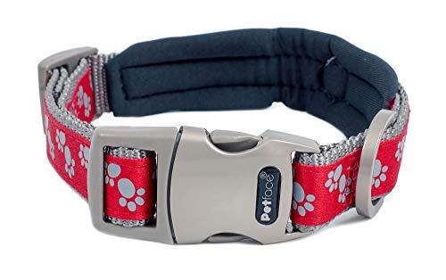 Petface Signature Collar Acolchado para Perro, de la Marca, Talla pequeña, con Lunares de Color Gris