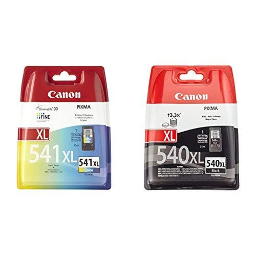 Canon CL-541 XL - Cartucho de Tinta para Impresoras (Cian, Magenta, Amarillo, Alto, Mg-2150 ) + PG-540XL Cartucho de Tinta Original para Impresora de Inyeccion Pixma
