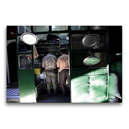 Premium Textil-Leinwand 75 x 50 cm Quer-Format Istanbul - Tee-Küche, Leinwanddruck von Michael Herzog
