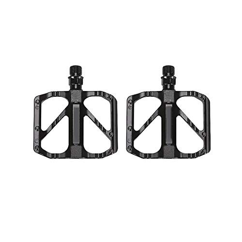 YUNYODA Bike Pedals, Super Bearing Mountain Bike Pedals Aluminum Alloy DU Spindle Road Bike Pedals with Sealed Bearing Anti-skid and Stable Pedals for Mountain Bike Folding Bike, 1 Pair