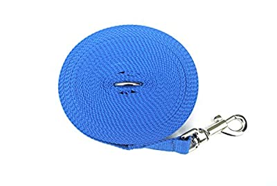 Church Products UK 10ft 3m Long Dog Training Lead Leash Recall Obedience Tracking Large 25mm Webbing In BLUE