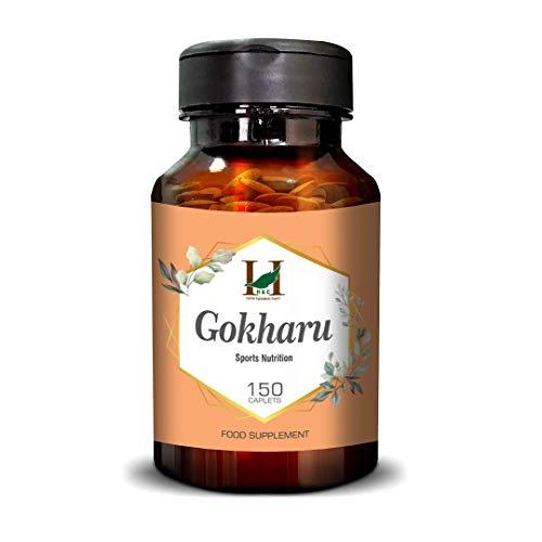 H&C Gokharu/Gokshura Caplets (Tribulus Terrestris) - 750mg, 150 Counts | Vitality Support/Immune Booster/Promotes Overall Health