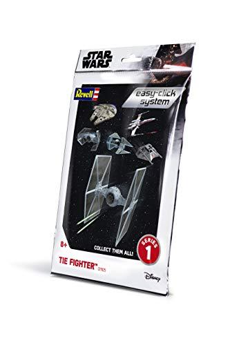 Revell- Tie Fighter Easy-Click Kit di Modelli in plastica, Colore Grey, 1:110, 01105