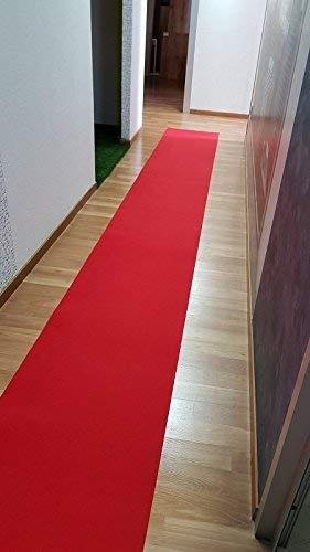 M.Service Srl Tappeto/Passatoia Multifunzione in Moquette - sotto lavello - Adatto per Cucina e Bagno - Antiscivolo - Elevata Resistenza - Mis. h 67 x 300 cm (Rosso - Red Carpet)