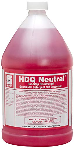 Spartan Chemical HDQ Neutral Sanitizing Solution Non-Acid Disenfectant, Virucide, 1 Gallon