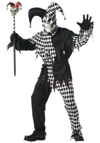 Costume Mauvais bouffon Noir et Blanc Carnaval Desguisement Taille XL