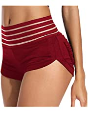 Vectry Damen Shorts korta leggings hög midja magkontroll sport short push up yogabyxor samlade booty shorts sommar fitness utomhus jogging hopants hiplyfting strandbyxor