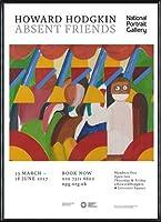 ポスター ハワード ホジキン Absent Friends The Tilsons Exhibition 額装品 アルミ製ハイグレードフレーム(ブラック)