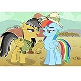 NO BRAND Dibujos Animados Mi Pequeño Pony Cartel de Rompecabezas de Madera Rompecabezas, Juguetes de Inteligencia 300/500/1000 Unidad for el Adulto (Color : D, Size : 500PC)