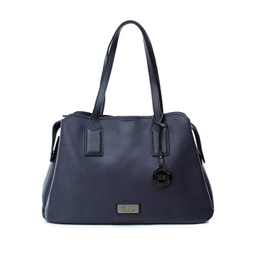 XTI 86140, Shopper para Mujer, Azul (Navy), 38x26x15 cm (W x H x L)