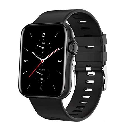 Generic Reloj inteligente para hombres y mujeres, resistente al agua IP67, rastreador de fitness, reloj digital, reloj inteligente para teléfonos Android iOS, color negro