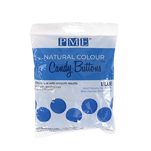 PME Natural Candy Buttons - Blue - 200g