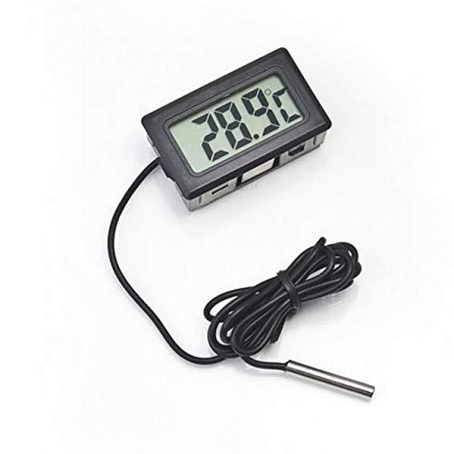 Ba30DEllylelly Termómetro digital de pantalla LCD electrónico portátil profesional para nevera/congelador/acuario/temperatura del tanque de pescado