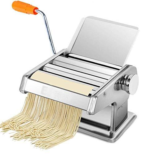 YUXIwang Máquina de pasta Fabricante de pasta delicada Pasta Máquina de pasta Máquina de pasta de acero inoxidable Máquina de rodillo de pasta manual Maker de fideos Cortadores de pasta con 3 cuchilla