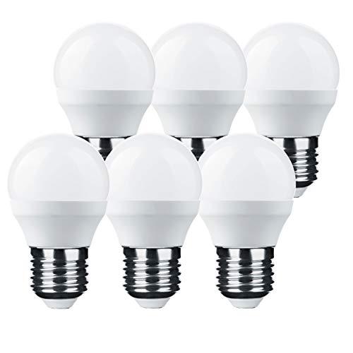 LumCa 6er Pack P45 LED Tropfen Lampe 6W warmweiß E27 ersetzt 45W | 2700 Kelvin | 600 Lumen | nicht dimmbar | 220-240V | 270° Abstrahlwinkel| Tropfenform E27 | LED Globe E27 | LED Mini Globe