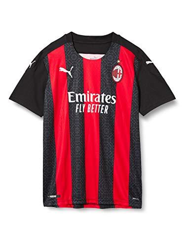 Puma ACM Home Shirt Replica Jr Maglietta, Unisex Bambini, Tango Red -Puma Black, 116