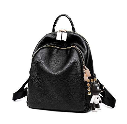 BUKESIYI Damen Tasche Rucksack Handtasche Frauen backpack Klein Anti Diebstahl Schulrucksack Laptop Weekender PU Leder CCDE78210 Schwarz V2