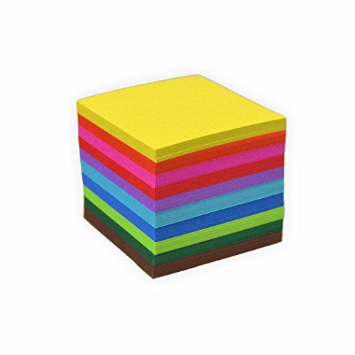 Faltblätter 70g/m², 10x10cm 500 Blatt, farbig sortiert hochwertiges Faltpapier für Origami und kreative Bastelprojekte