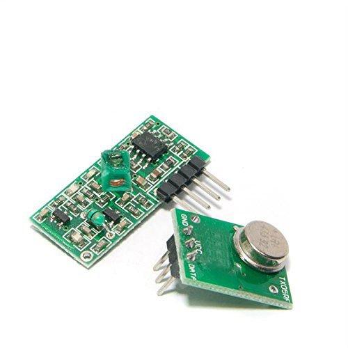 DollaTek 433 MHz Empfänger und Funk- Sende Modul Superregeneration Wireless Transmitter-Modul Einbrecher Alarm 433M Receiver Module Burglar Alarm für Arduino Raspberry pi