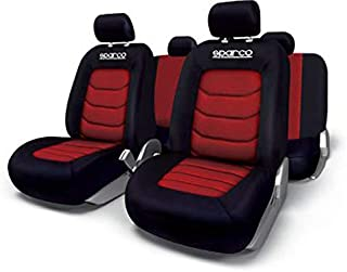 Sparco Seat Cover Set Polyester and Mesh - Red [SPC1019RS]