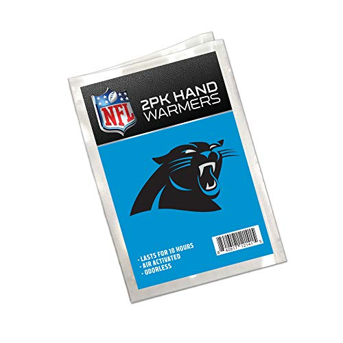 Worthy Promo NFL Carolina Panthers Winter Hand Warmers 20-Pack (10 Pair). Long Lasting 10-Hour Warmth, Air Activated, Odorless. Gifts for Men, Women. Tailgating Accessories, Stocking Stuffers.