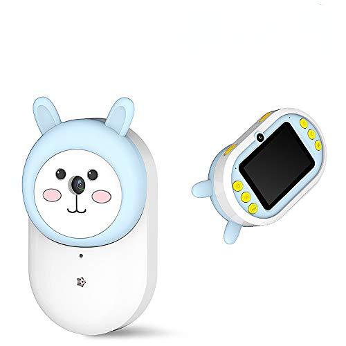 TSSM Kinder Digitalkamera, Mini wiederaufladbare Kinder Camcorder stoßfestes Softcover Spielzeug Geschenk für 3-12 Jahre alte Jungen Mädchen rosa (8 GB TF-Karte enthalten),Blau