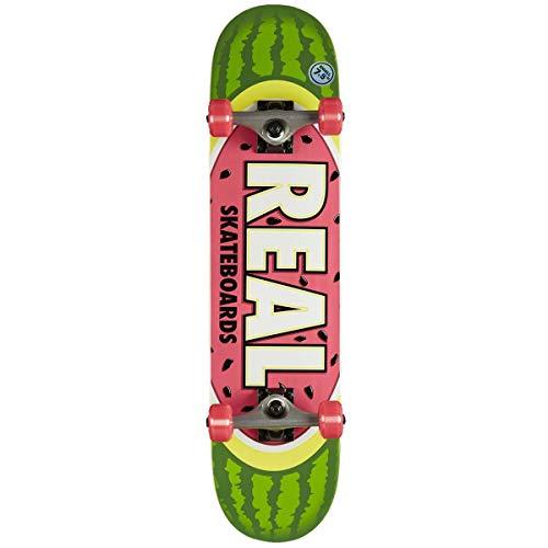 Real Grun Rosa Watermelon Team - 7.5 Inch Skateboard Komplett (One Size, Grun)
