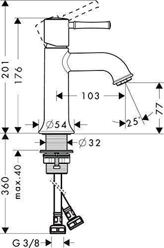 Hansgrohe – Einhebel-Waschtischarmatur, Temperaturbegrenzer, Chrom, Serie Talis Classic 80 - 4