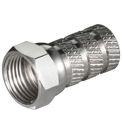 8 Stück - XmediaSat F-Stecker/F-Aufdrehstecker 5.0mm BigNut