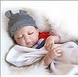 Bebe Reborn Silicona Cuerpo Completo, 55 cm NiñO Nacido De Nuevo, Vinilo De Silicona MuñEca Reborn - Set De Regalo para NiñOs