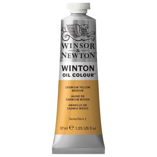Winsor & Newton Winton Oil Color Paint, 37-ml Tube, Cadmium Yellow Medium