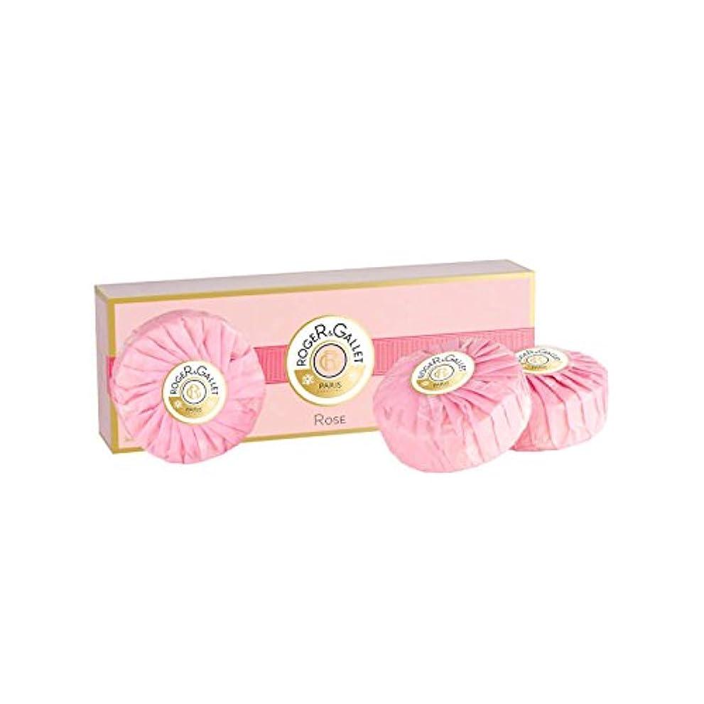 柱九通りロジェガレ ローズ 香水石鹸 3個セット 100g×3 ROGER & GALLET ROSE SOAP [並行輸入品]