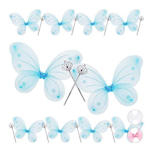 Relaxdays - Mäntel, Umhänge & Flügel für Kinder in Blau, Größe 10er Pack