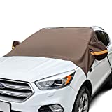 AstroAI Windshield Snow Cover, Extra Large Car Windshield Cover for Ice and Snow Ultimate Waterproof for Cars, Trucks, Vans and SUVs Wiper Mirror Protector Windproof Cover for Snow, Ice and Frost