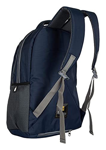Half Moon 35 L Casual Waterproof Laptop Bag/Backpack for Men Women Boys Girls/Office School College Teens & Students with Rain Cover (18 Inch) (Navy)