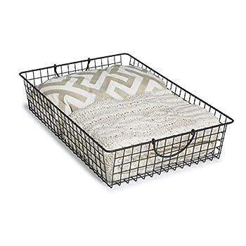 Spectrum Diversified 87076 Stowaway Basket Under Bed Storage Large Industrial Gray