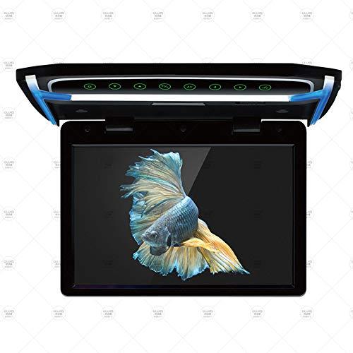 LZHYA Monitor De Techo De Coche, Car Stereo Player MP5 con Pantalla Abatible, Overhead Car TV Pantallas, TFT LCD, Sistema: PAL/NTSC, Pantalla MP5 de 10,1 Pulgadas (Black)