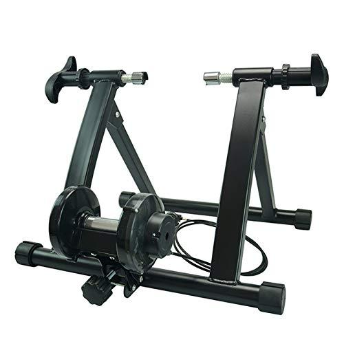 GKJ Rodillo Entrenamiento De Bicicleta Rodillo,Permite Entrenar En Casa, Entrenamiento De Ciclismo Interior, Unisex con 7 Niveles De Resistencia