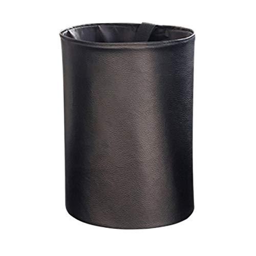 QMMB Bolsa De Basura De Coche Plegable Portátil, Bolsa De Basura De Coche Impermeable, para Limpiar Basura O Almacenar Artículos, Adecuados para Todos Los Autos,Negro,1PCS