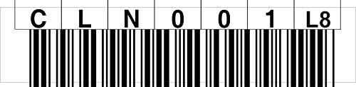 LTO 8 Cleaning Label horizontal Nummernkreis CLN001 - CLN020 (L8)