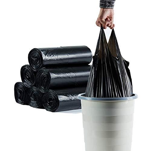 5 Rollos 30L Bolsas de Basura Portátiles Bolsa de Basura de Resistencia para el Coche Familiar de Cocina Bolsa de Almacenamiento de Residuos, Negro, 45x63cm